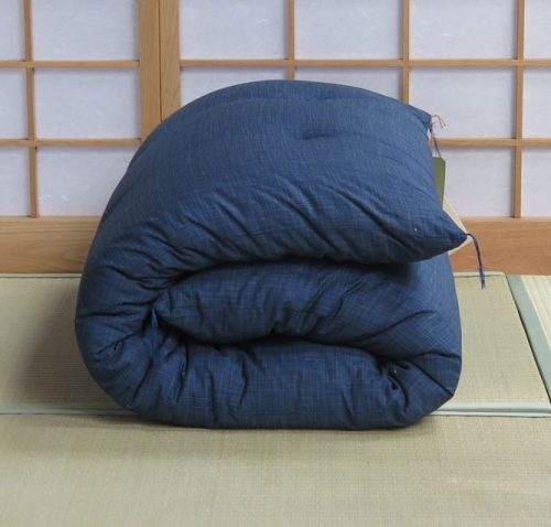 single-dark-blue-futon