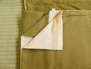 Khaki and cream cover